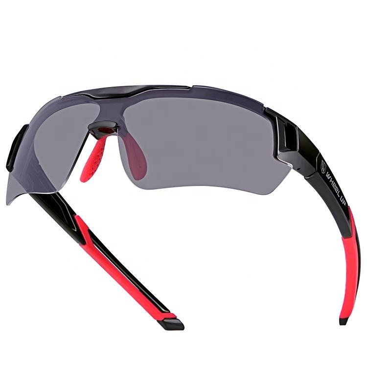 WHEEL UP Specialized Photochromic Sunglasses Adjustable Nose Clip UV400 Sports Cycling Sunglasses With Glasses Pack