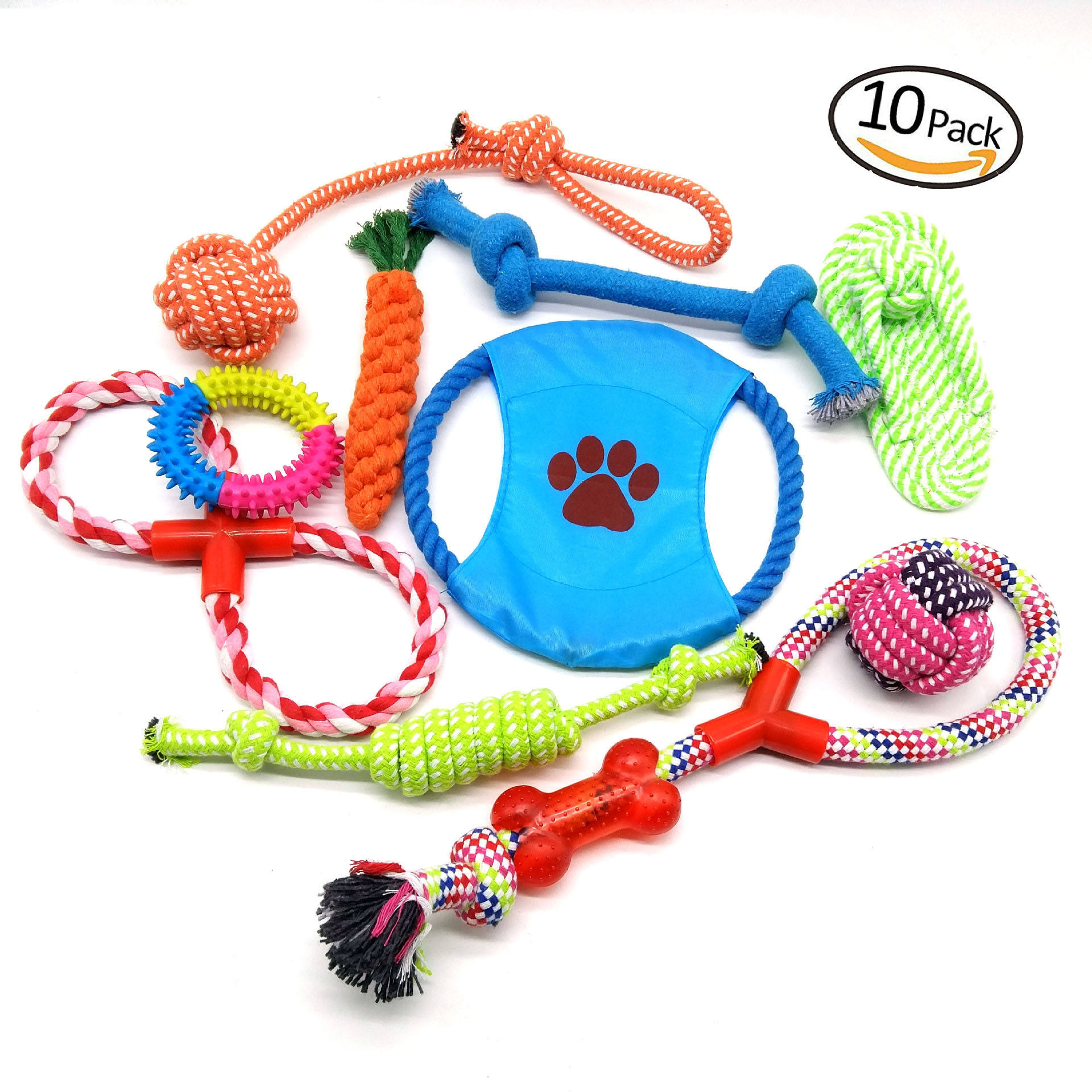 Amazon best selling pet toy kit 10 pack most popular dog toys for small dogs & puppies