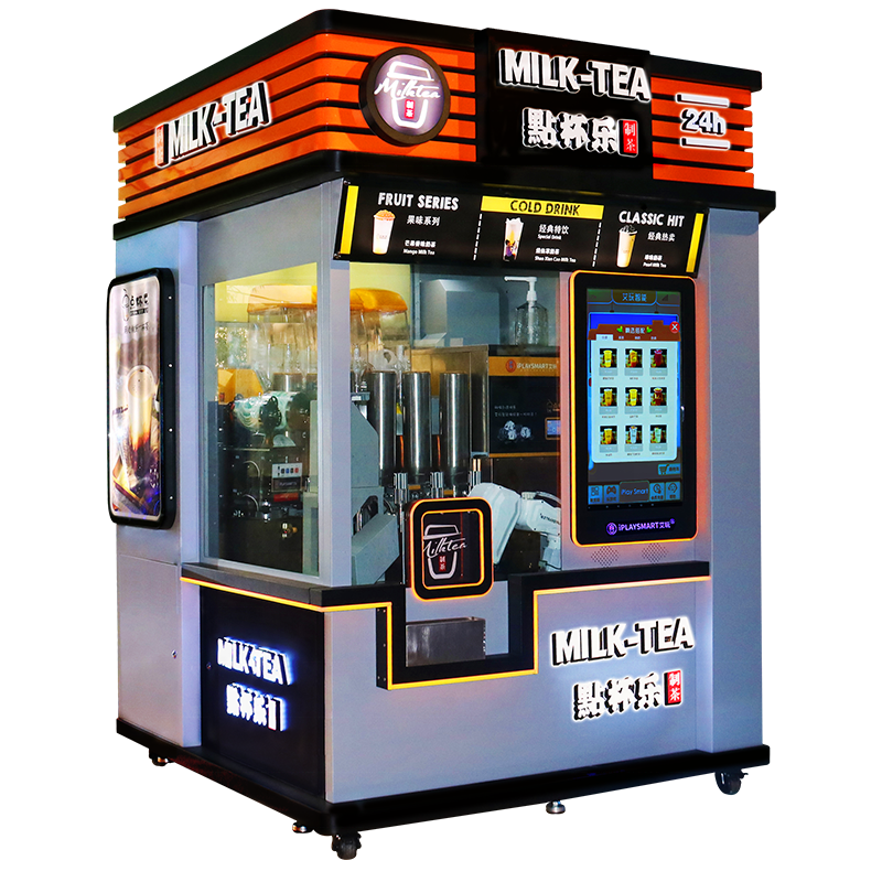 Automatic Tea Coffee Bubble Tea Smart Vending Machine