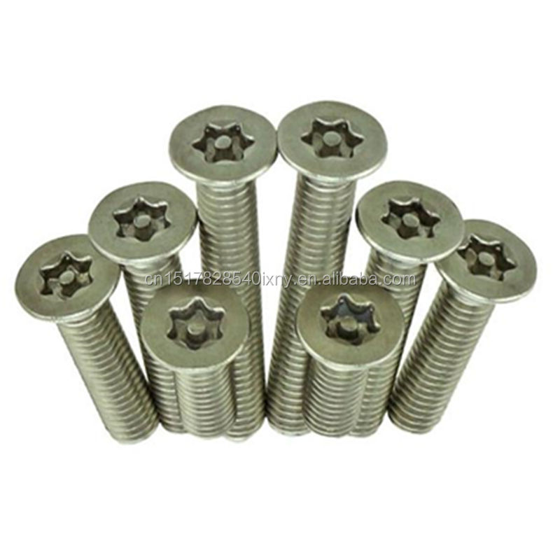 Cheap Price Countersunk Head Security Machine Screws with Pin M2 M2.5 M3