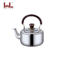 Middle East style 201 stainless steel 1L-6L whistling kettle water kettle tea kettle with bakelite handle for kitchen