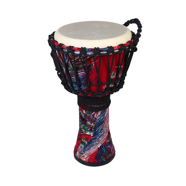 10-inch Children Percussion Musical size 8 inch / 10 inch/ 12 inch Rope Fabric Imitation Sheepskin Djembe Drum