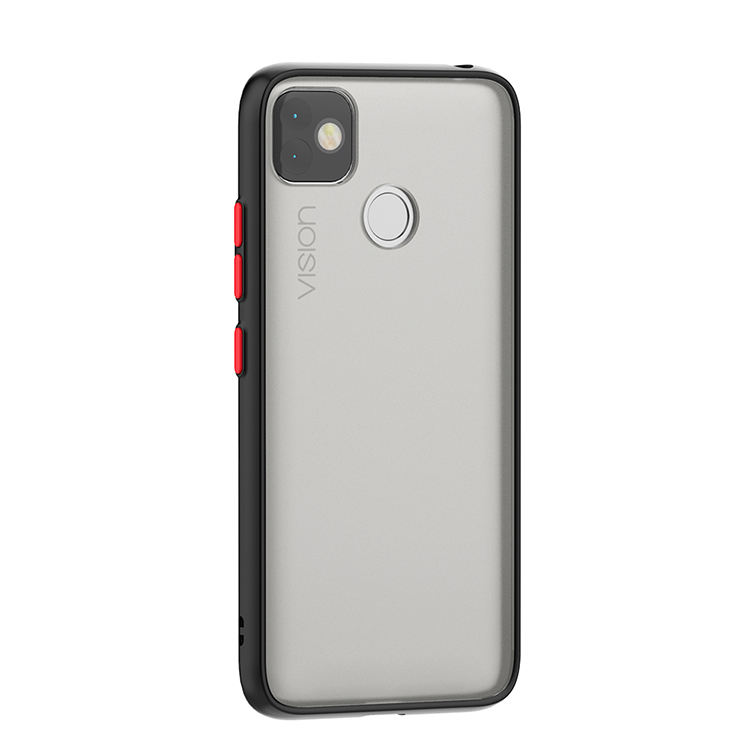 Factory price skin feel transparent tpu pc slim hybrid phone case for itel vision back cover case