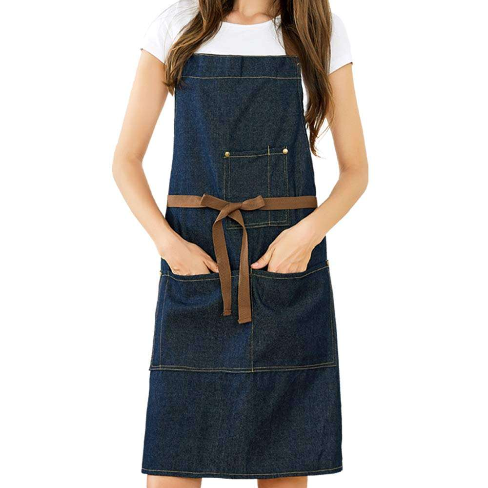 One-Stop Service [ Denim Apron Aprons ] Apron Apron Wholesale Customized Denim Apron Design Canvas Aprons For Kitchen Apron Adjustable Bib