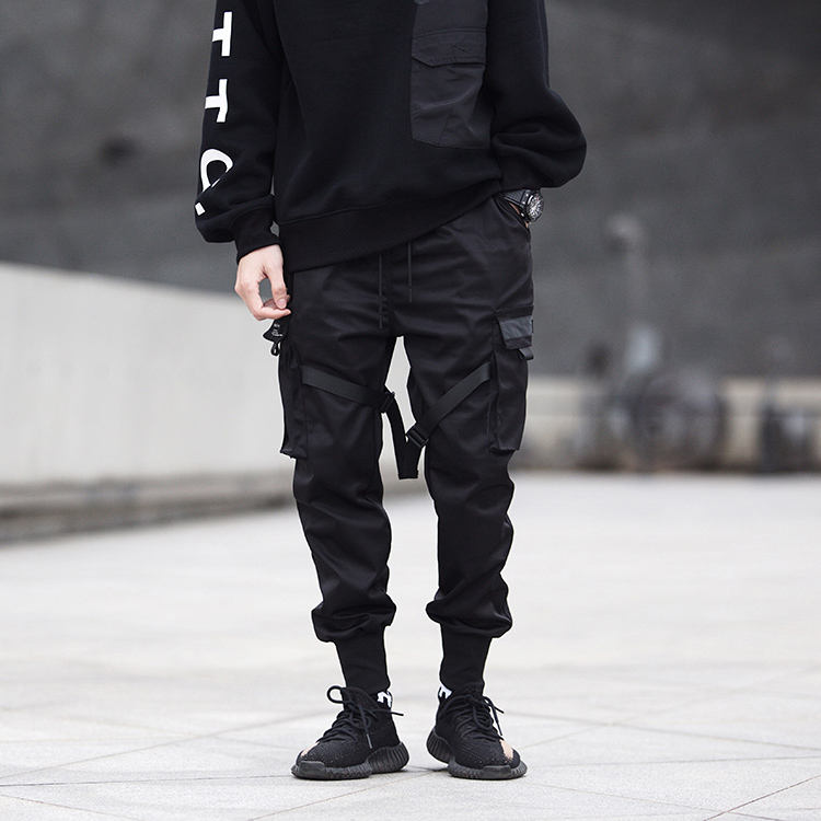 New style in stock popular stereo multi-pocket baggy cool hip hop street wear hombre cargo polyester mens track pants