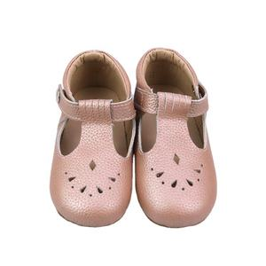 Wholesale Anti-Slip Rubber Sole Unisex Children Leather Kids Shoes