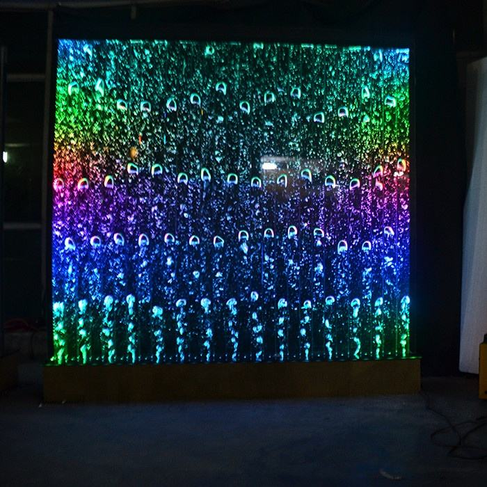 Hotel decoration digital programming LED aquarium bubble water wall partition wall