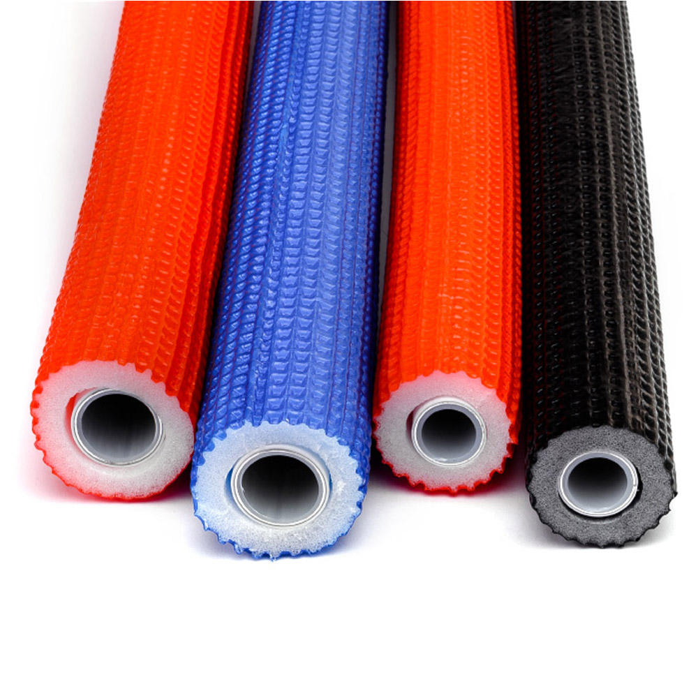 16mm red color pert al pert multilayer insulation pipe for heating material