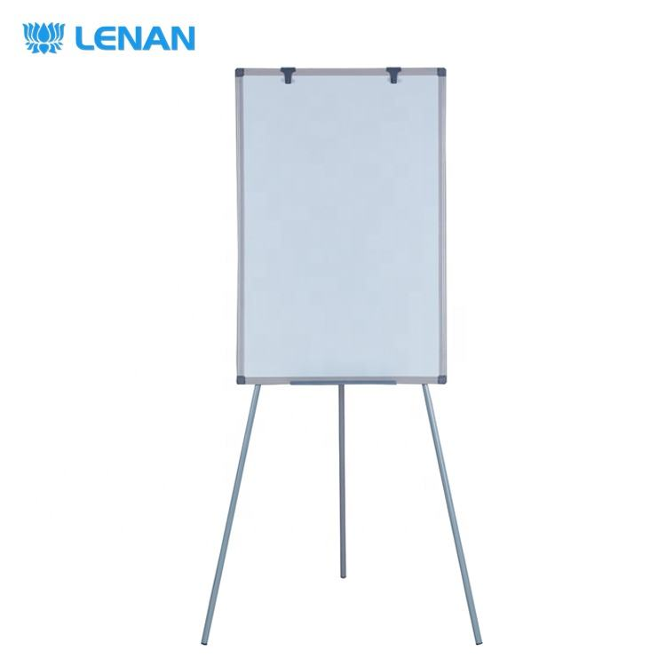 Office meeting supplies magnetic whiteboard easel foldable tripod flip chart board with stand price