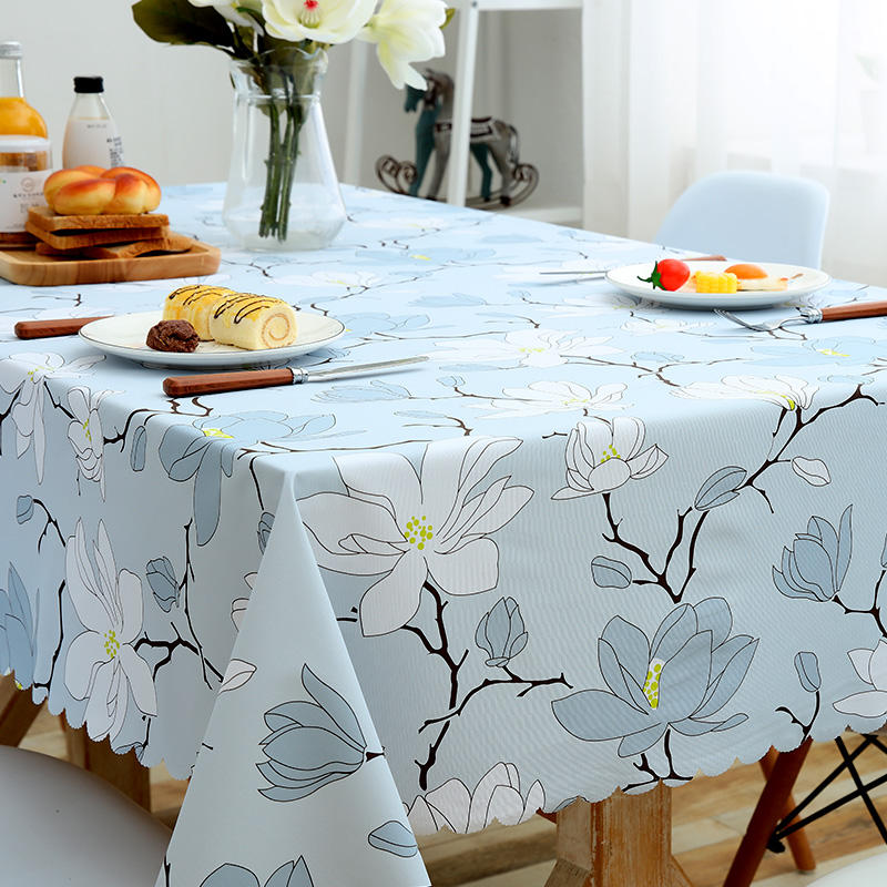 Customized PVC tablecloth for Dining Home Hotel Restaurant Plastic PVC Tablecloth Table Protective Cover