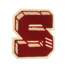 New style custom chenille alphabet applique,sew on chenille letters patches,custom chenille hoodie patch