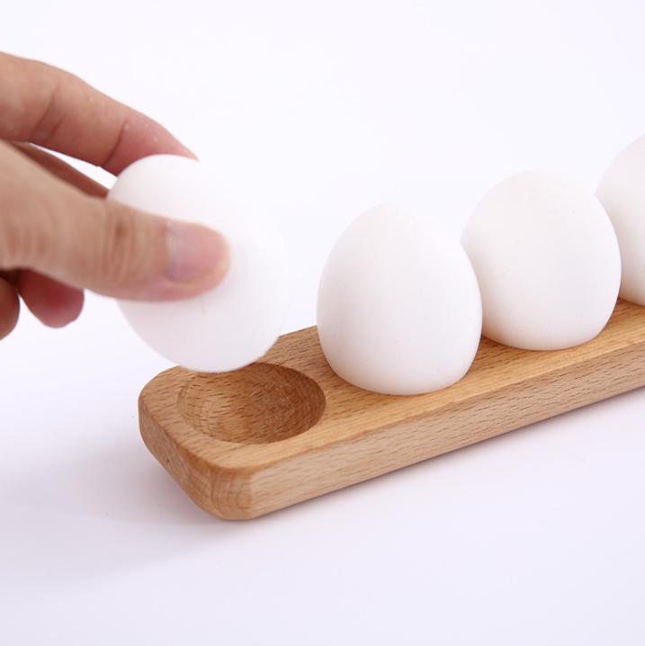 Artesanía Decoración De Pascua De Juguete Natural De madera huevos de gallina Soporte Rejilla de almacenamiento de madera