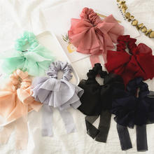 Korean ins hot sale candy bowknot gauce girl hair ring hair accessories