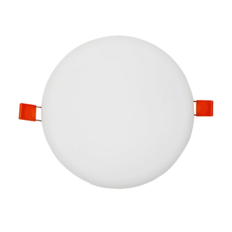 Zhongshan factory competitive price 75mm ultra thin white round square shape 6w frameless LED panel light