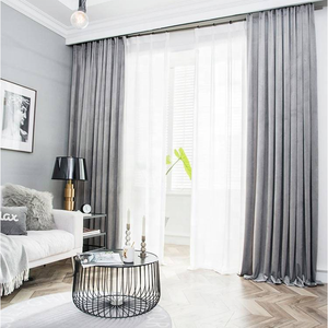 China factory manufacture 100% Polyester Living Room yarn dyed supply window luxury velvet Curtains