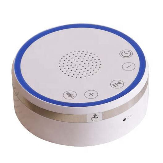 OEM with Soothing Night Light record function 9 Relaxing Nature Sounds Volume Control Portable White Noise Sleeping Machine