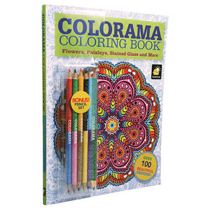 Custom Adults/Children/Kids Coloring Book with 12 Colored Pencils, Create Something Wonderful & Relax