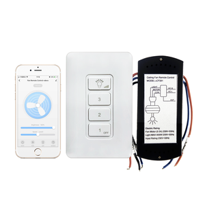 Tuya Available Smart Home WiFi Ceiling Fan Remote Control Kit for Light and Fan Speed Control