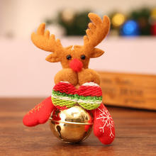 Christmas Bell Figurines Santa Claus Elk Ornaments Home Accessories