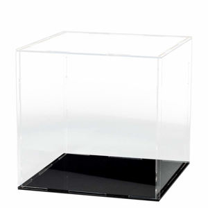 Countertop Cube Box Organizer Stand Showcase Clear Acrylic Display Case for Hat Wig Toy Basketball