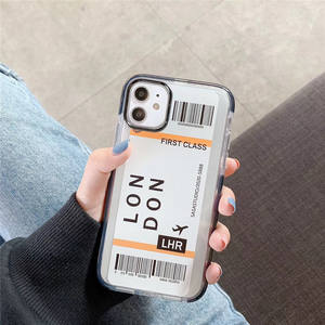 For iphone 6 6s 7 8 x xr xs m ax 11 pro case airplane ticket, for iphone 11 clear case latest
