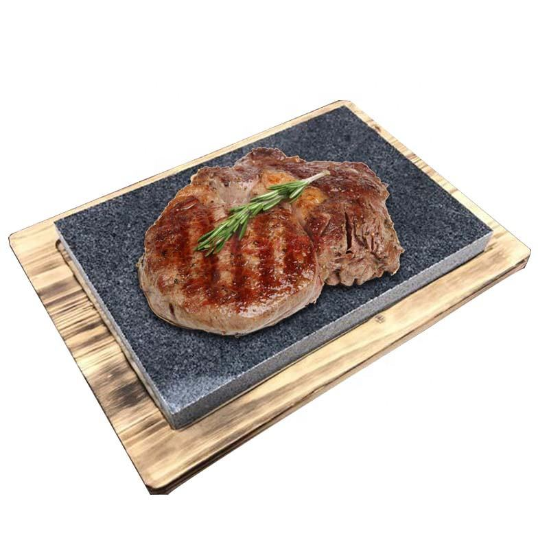 Koken Steen-Lava Sizzling Hot Steak Stenen Plaat En Koude Lava Rock Grillen Steen