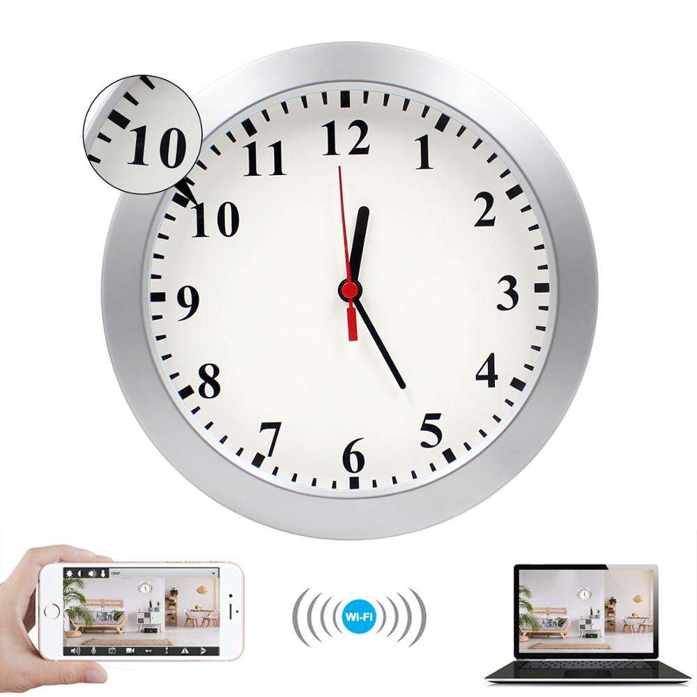 Best Seller Spy Watch 1080P Hidden Camera Wall Clock Spy Camera Motion Detection Security Home Office Nanny Pet Cam
