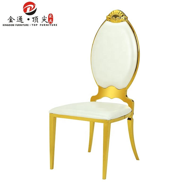 high back royal pu leather wedding banquet dining chairs