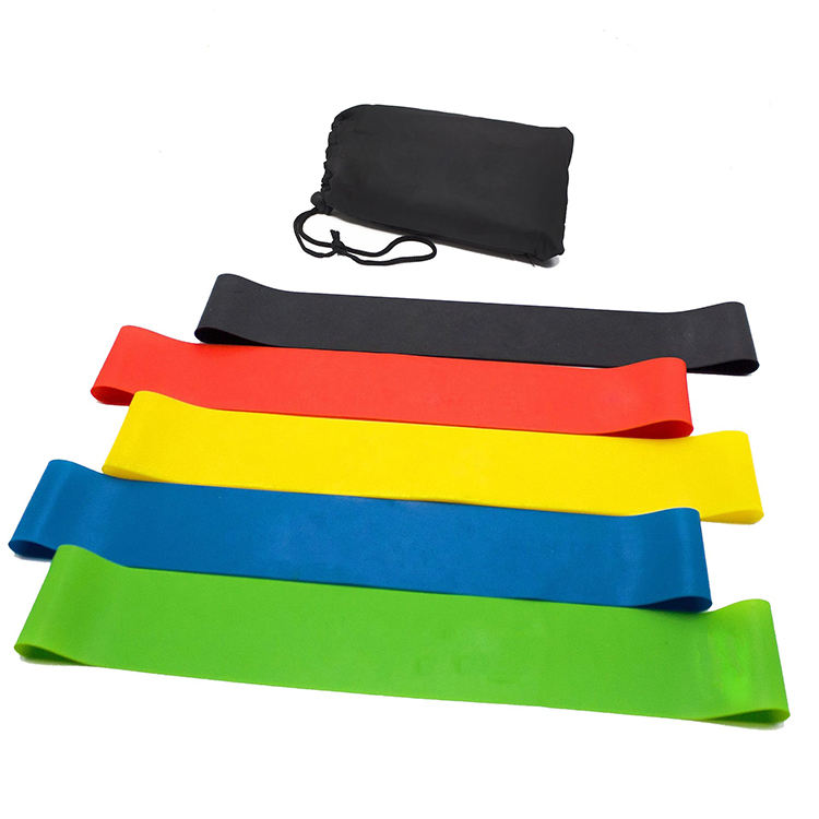 5 Pcs Elastische Latex Hip Cirkel Yoga Resistance Bands <span class=keywords><strong>Groothandel</strong></span>
