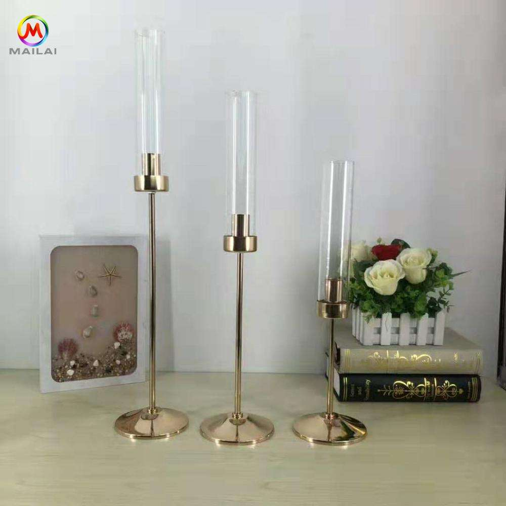 Luxury Tall Candlestick Holder Stand For Wedding Hotel Home decor Metal Gold Antique candle holder
