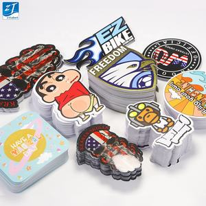 High quality custom printing removable shiny die cutting sticker uv self adhesive waterproof logo label vinyl die cut stickers