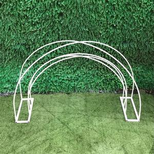 New wedding stage decoration gold metal flower arch stand