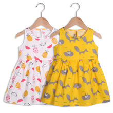 OEM print 100% cotton baby girl dress