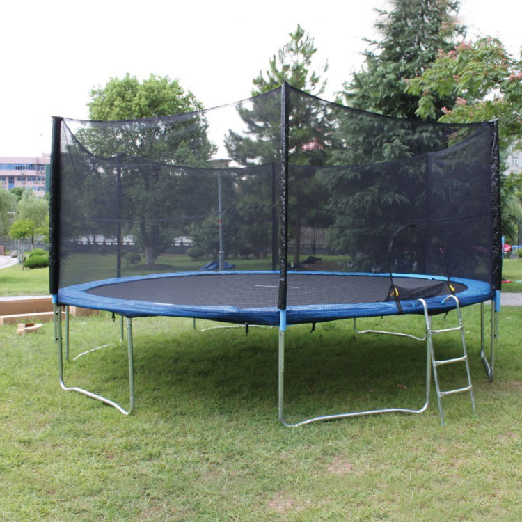 Commercial Huge Jumping Bed, 16Ft Garden Trampoline With Ladder