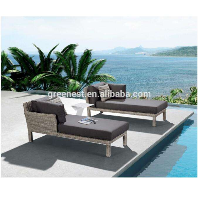 New style outdoor poly rattan pool lounge chair