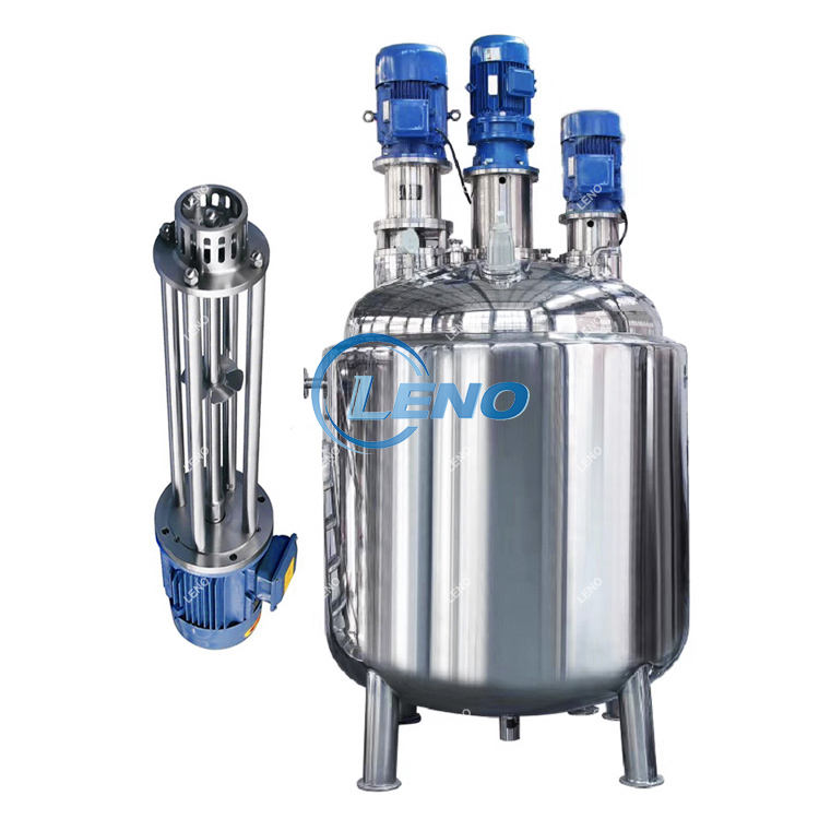 Best Price Liquid emulsifying homogenizer tank electric steam heating mixer jacketed stainless steel mixing tank with agitator