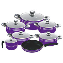 12pcs pressing non-stick pink tvs cookware