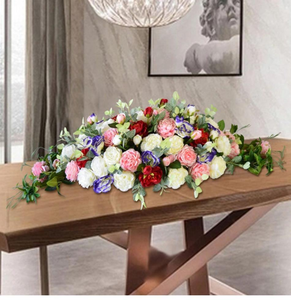 D050723 flower balls decorations gold and blue vases jungle base Table flower centerpieces for meeting conference table