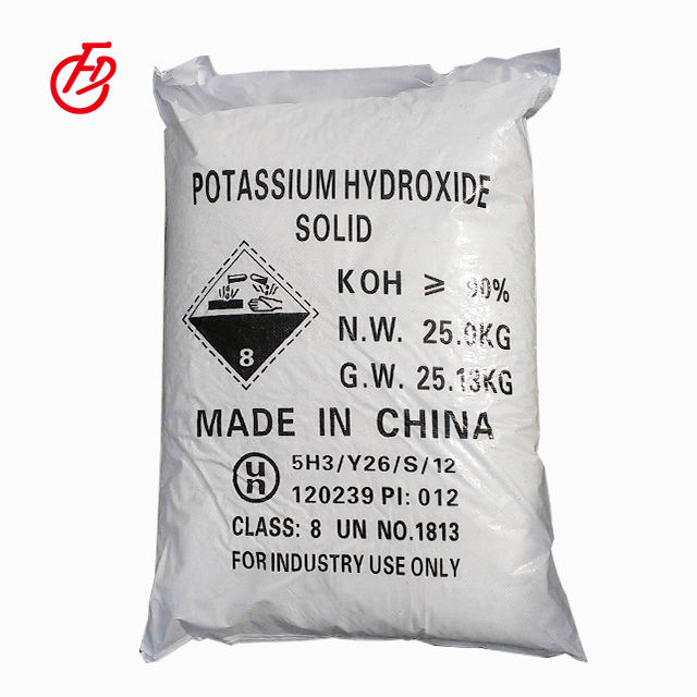 Hot Sale Factory Supply KOH hot sales 90%min Potassium Hydroxide flake