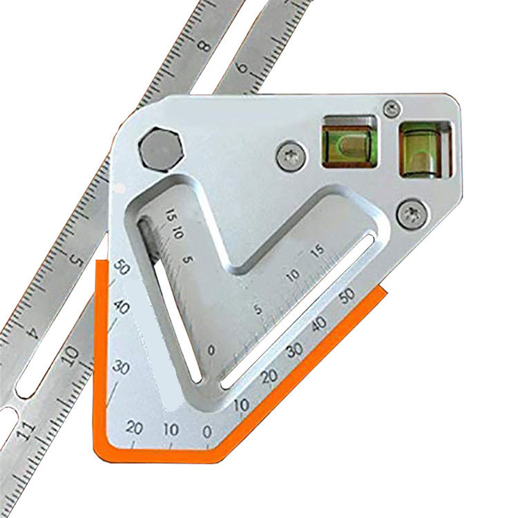 Customized By Manufacturer Angle Ruler Multifunction Level Angle Ruler Woodworking Triangle Ruler /