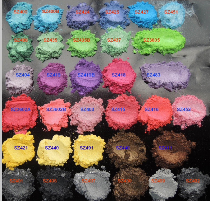 Multi Colors Mica Pearl Cosmetic Pigments