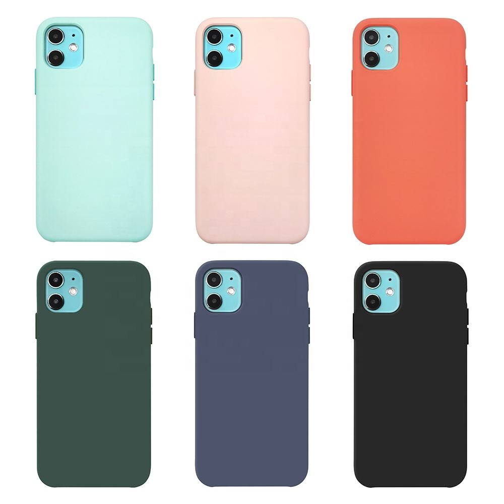 TENCHEN Hot selling Plain silicone case, soft phone case for iphone case silicone original