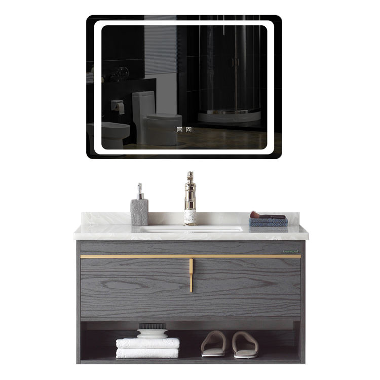 36 Inch Single Sink Plywood Bathroom Vanity Wood Cabinet Bathroom Cabinet with Mirror