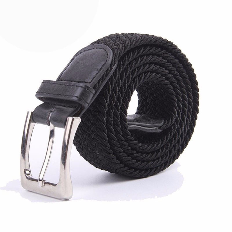 Wholesale Amazon Men Braided Fabric Elastic Woven Stretch Jeans Belts