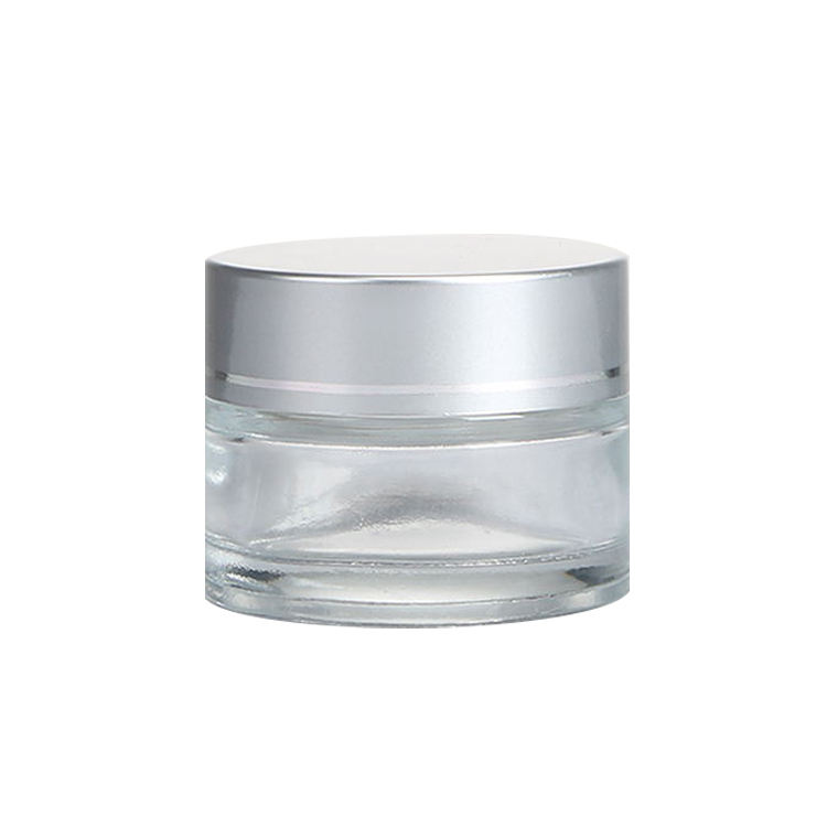 LOW MOQ High End 5g Empty Frosted Glass Cream Jar