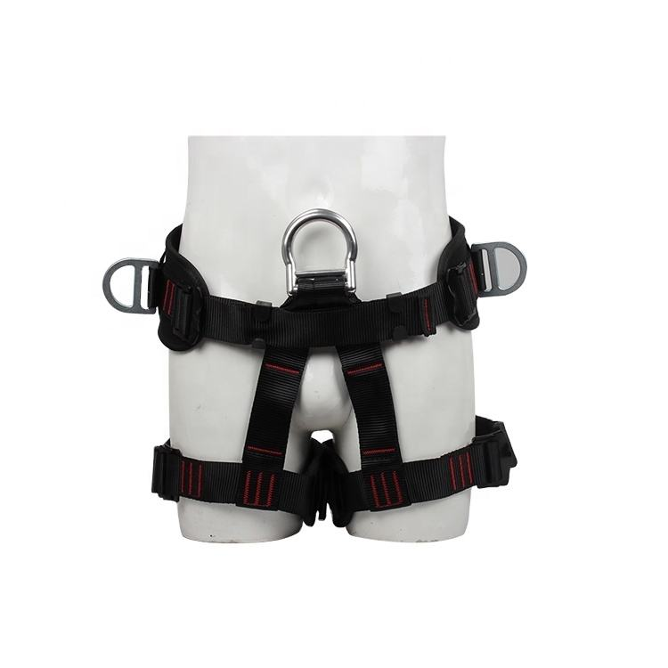 High quality rock climbing outdoor half body safety harness for sale