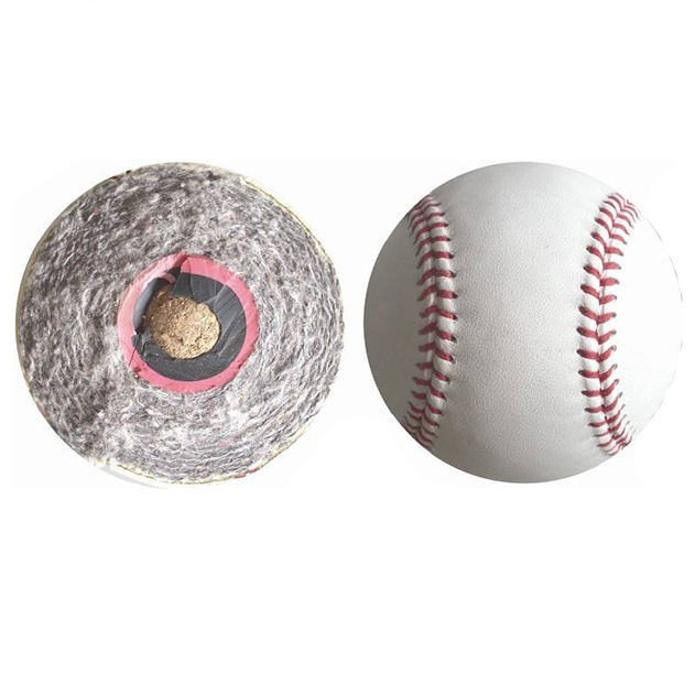 Professional cow leather official baseball ball 15% 30% 50% 85% 90% wool filling double cushioned cork core baseball ball