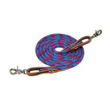 Low MOQ custom size leather durable nylon rope horse reins