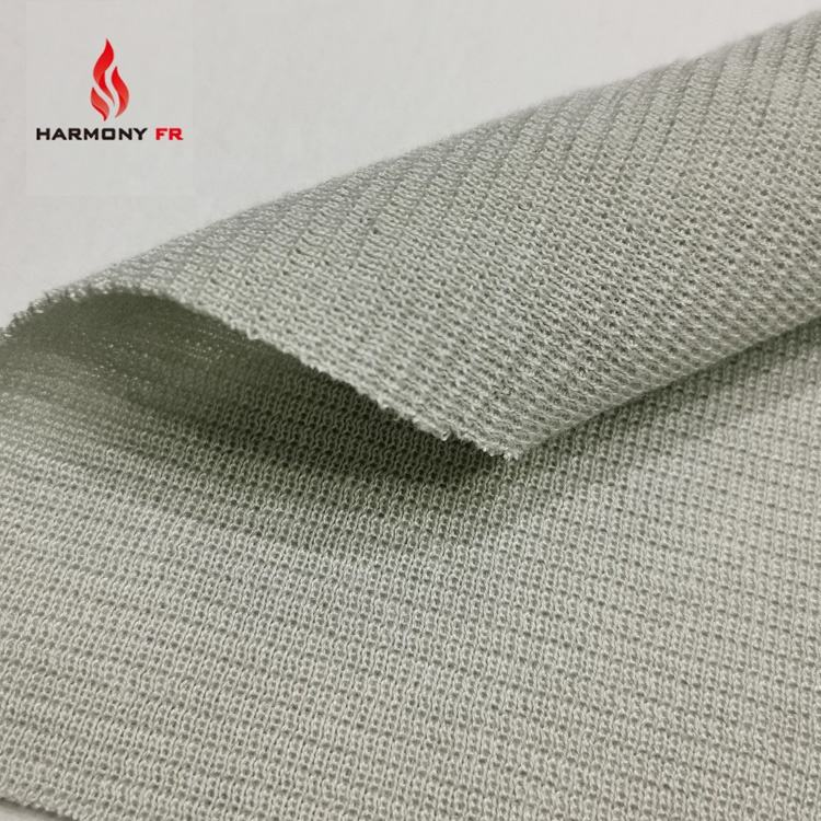 Knitted Rib 100% Meta Aramid Fire Retardant Fabric For Work Wear