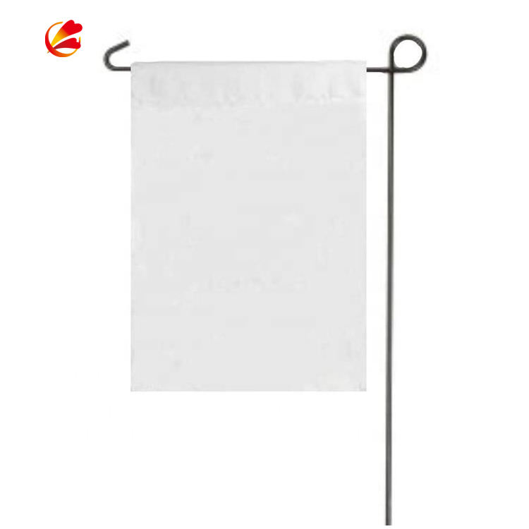 DIY White Polyester Blank Garden Flag for Camper Banner Lawn Yard Outdoor Wholesale